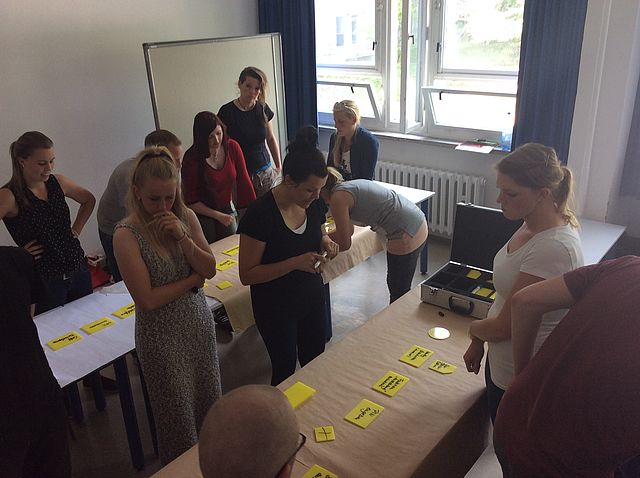 Workshop zu Tangible Business Process Modeling (t.BPM) im Masterstudiengang Innovations- und Change-Management