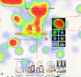 Heatmap eines Website Eye Tracking